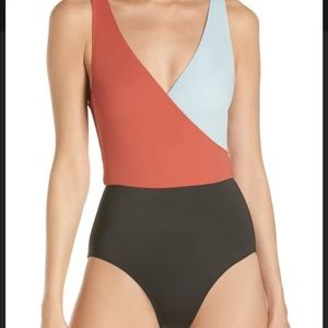 Solid and Striped Ballerina one pieces S NWT